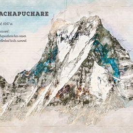 Machapuchare, Népal sur Theodor Decker