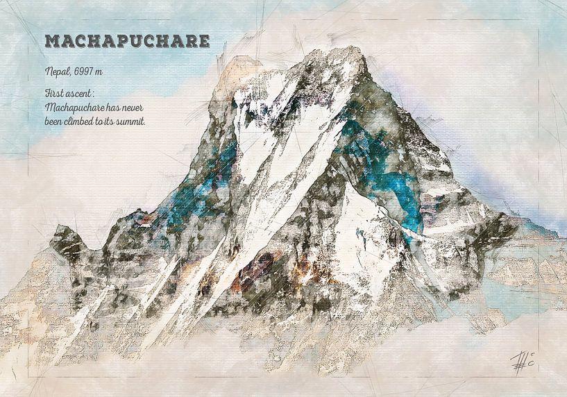 Machapuchare, Nepal von Theodor Decker