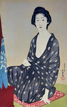Frau im Sommerkleid, Hashiguchi Goyo, 1920 von Atelier Liesjes