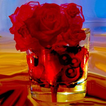 Rode rosen van Raina Versluis