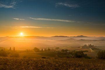 De dag begint in Toscane