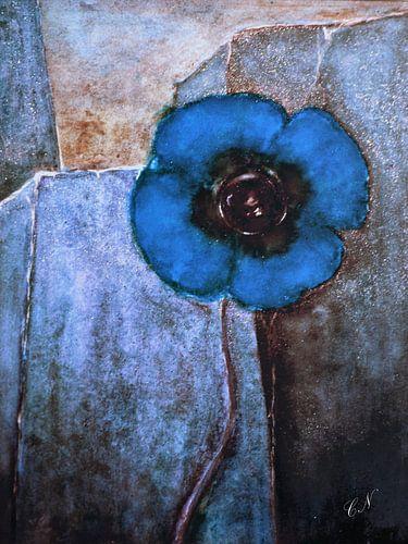 Blauwe Bloem  van Christine Nöhmeier