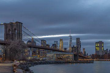 Brooklyn Bridge van Rene Ladenius Digital Art