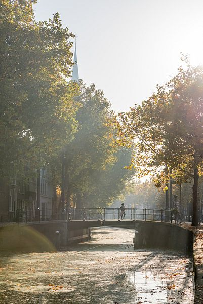 Automne à Gouda. Pont sur le Gouwe. sur Remco-Daniël Gielen Photography