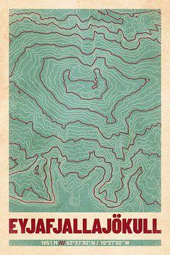 Eyjafjallajökull | Landkarte Topografie (Retro) von ViaMapia