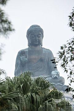 Buddha statue near Hongkong, China van Fleur Halkema