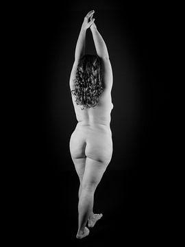 Artistiek Naakt Plussize Vrouw z-w van Helga fotosvanhelga