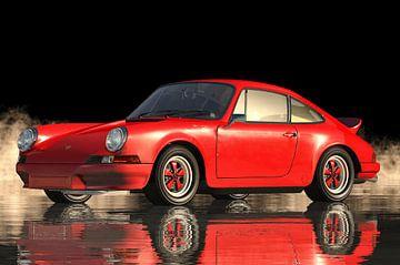 Roter Porsche 911 Carrera von Jan Keteleer