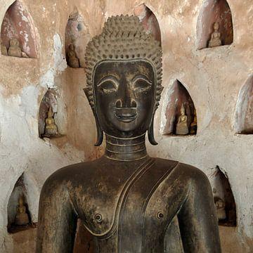 oud Boeddha beeld (vierkant) van Affectfotografie