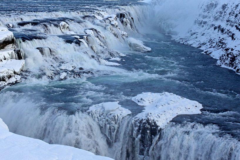 Gulfoss waterval van Antwan Janssen