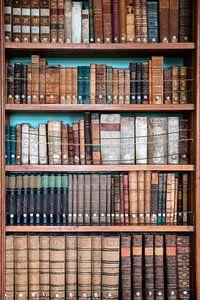 Bücherschrank mit alten Büchern.