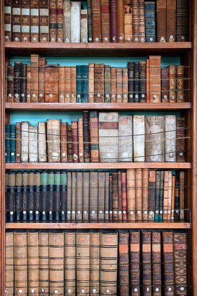 Bücherschrank mit alten Büchern. von Roman Robroek
