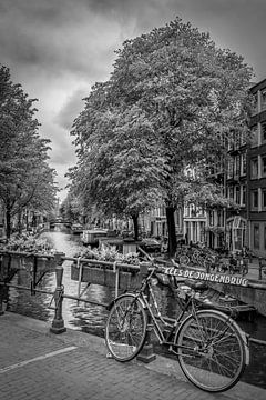 AMSTERDAM Bloemgracht | Monochrom von Melanie Viola