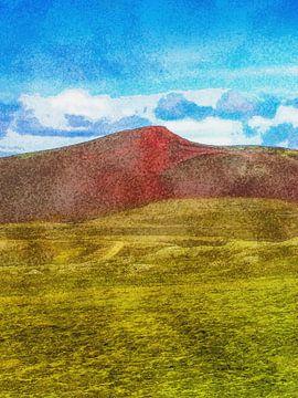 Die Farben von Laki, Island von Frans Blok