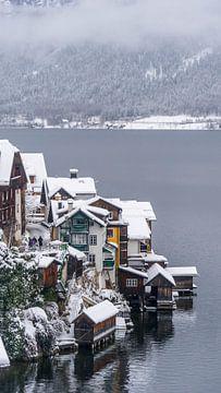 Winter in Hallstatt, Oostenrijk van Jessica Lokker
