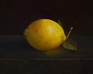 Nature morte au citron sur