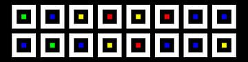 Nested | Center | 08x02 | N=02 | Random #04 | RGBY van Gerhard Haberern