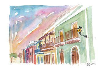 San Juan Puerto Rico Koloniaal Straatbeeld van Markus Bleichner