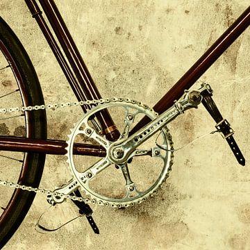 De vintage racefiets van