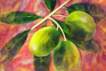 grüne Oliven von Marion Tenbergen