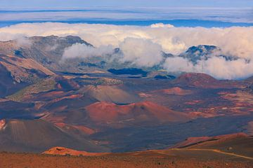 Haleakala Vulkaan, Maui, Hawaii van Henk Meijer Photography