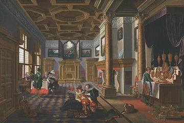 Renaissance-Interieur mit Bankettlern, Esaias van de Velde, Bartholomeus van Bassen