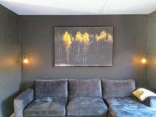 Klantfoto: Herfstsfeer met berken van Ton Drijfhamer, op canvas