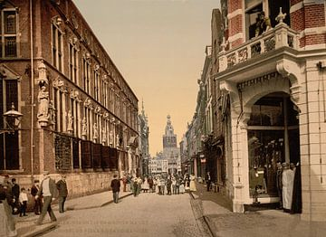 Stadhuis en Grote Markt, Nijmegen von Vintage Afbeeldingen