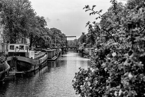 De Brouwersgracht vanaf de Bullebak in Amsterdam.  von