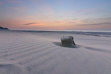 Sporen in het zand van Albert Wester Terschelling Photography