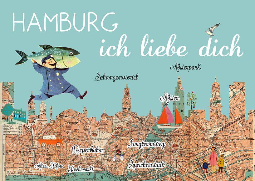 Hamburg ich liebe dich van Green Nest