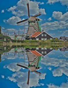 Wasserreflexion, Zaanse Schans, Niederlande