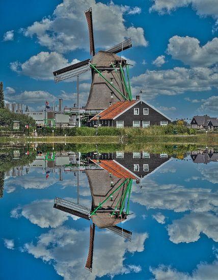 Water Reflection, Zaanse Schans, The Netherlands