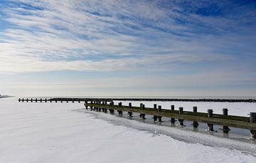Het Markermeer in de winter van Thea Oranje