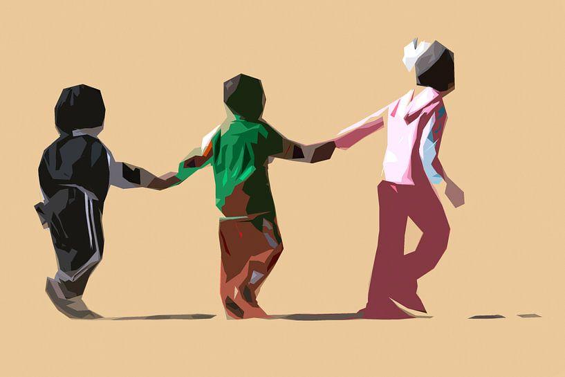 Spelende kinderen in kleur van De Afrika Specialist