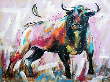 Bull van Vrolijk Schilderij