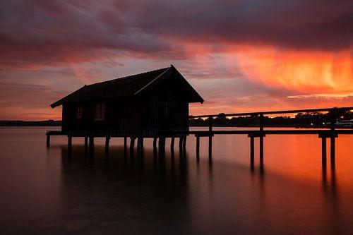 Sonnenuntergang am Ammersee von