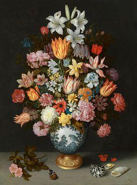 Stillleben mit Blumen in einer Wan-Li-Vase, Ambrosius Bosschaert der Ältere