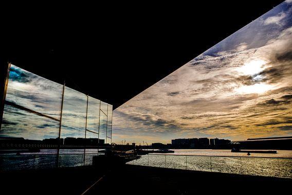 Eye Amsterdam zonsondergang
