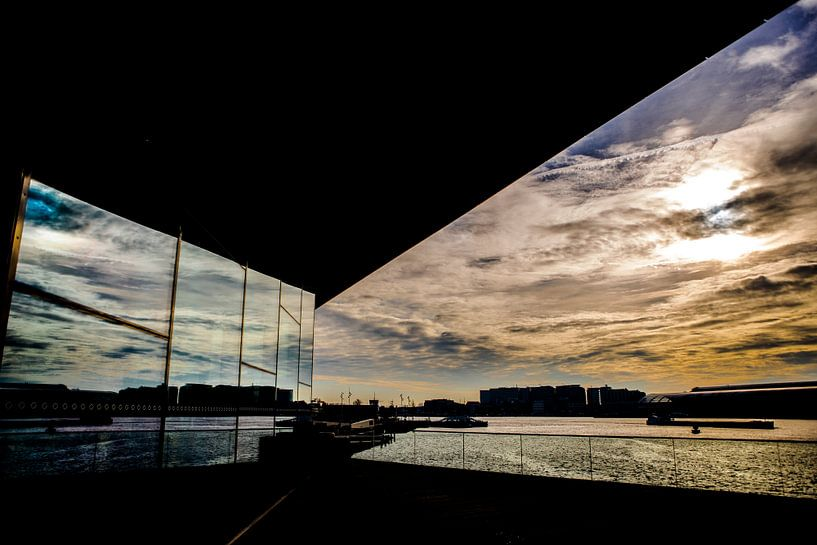 Eye Amsterdam zonsondergang van PIX URBAN PHOTOGRAPHY