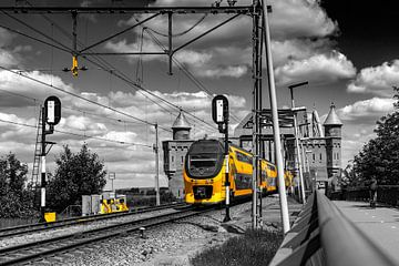 Zug bei Nijmegen Farbspritzer von Henk Kersten