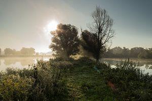 Castellumpad Arnhem bij zonsopkomst van