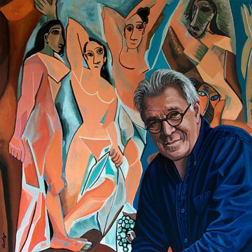 Jeroen Krabbe liebt Les Demoiselles d' Avignon von Picasso von Paul Meijering