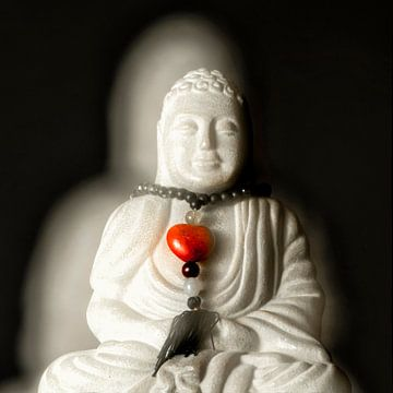 Boeddha 1 van Carla Vermeend