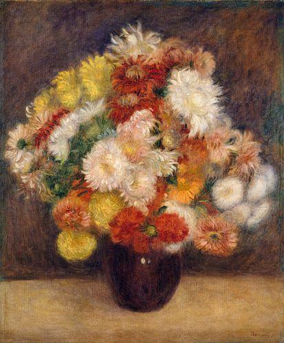 Boeket van Chrysanten, Auguste Renoir van Meesterlijcke Meesters