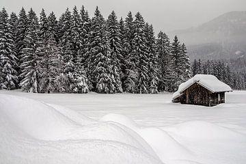 Almhütte im Schnee im Drautal - Kärnten - Österreich