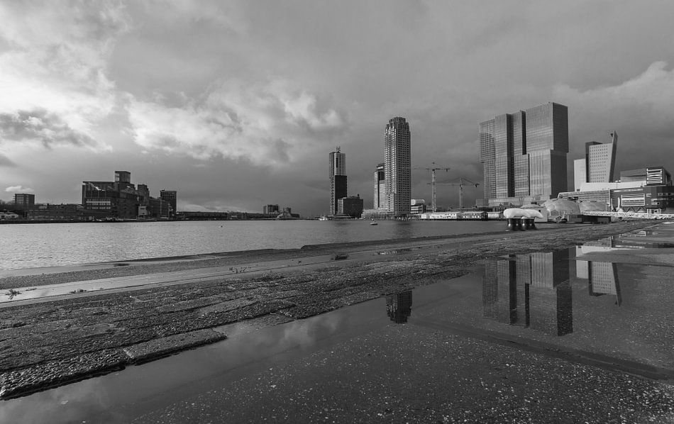Rijnhaven Rotterdam after the rain van Ilya Korzelius