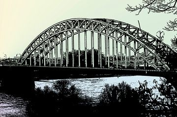 de waalbrug nijmegen pastel van Groothuizen Foto Art