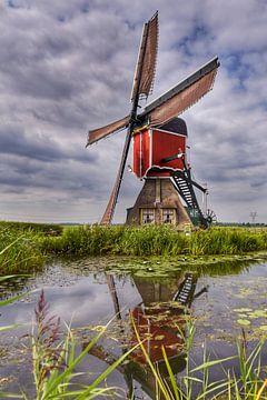 Hollandse water wipmolen van John Wiersma