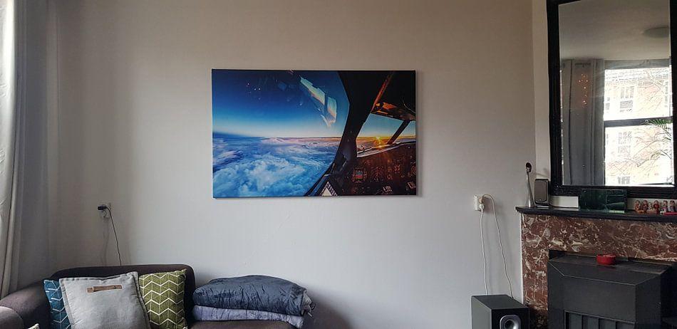 Klantfoto: Zonsondergang op 11km hoogte van Martijn Kort, op canvas